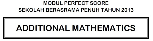 Perfect Score AddMat2013