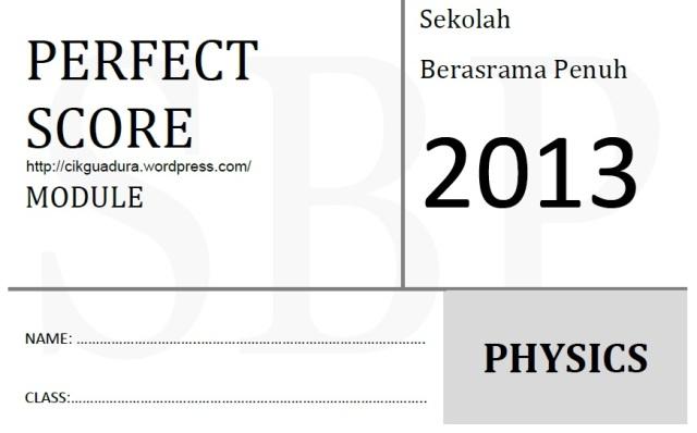 perfect Score Fiz 13